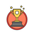 success trophy first prize retro badge icon vector image vector image