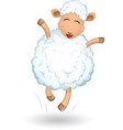 Sheep on white background vector image