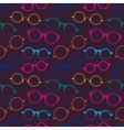 Seamless pattern with colorful retro glasses vector image