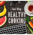 Food blog healthy cooking lifestyle vector image vector image