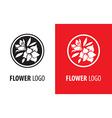 Flower logo 003 vector image