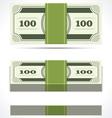 Dollars money in perspective vector image vector image