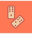 flat icon on stylish background dice lucky vector image