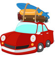 cartoon travelling car vector image