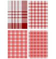 checkered tablecloths vector image