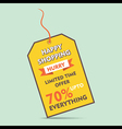 happy shopping big discount offer tag style banner vector image
