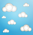 Low poly clouds vector image