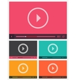 Modern flat video player interface vector image