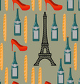 Paris seamless background French infinite pattern vector image