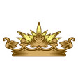 royal attribute golden crown vector image