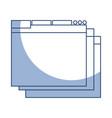 shadow web window vector image