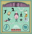 Vintage circus elements vector image