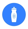 Water bottle icon in black style isolated on white vector image