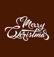 white text marry christmas vector image