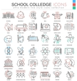 School and colledge ultra modern outline vector image