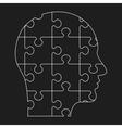 black outline human profile vector image vector image