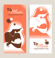 Cards of Happy Mothers Day vector image