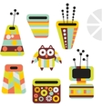 Owl and vases vector image