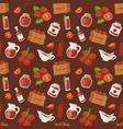 fresh background organic red tomato vegetable vector image