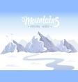 mountain epic vector image