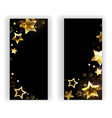 Two banners with small gold stars vector
