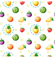 Seamless design with fruits vector image vector image