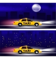 Taxi banner vector image