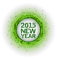 2015 fireworks green vector image