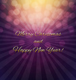 Christmas Poster With Bokeh vector image