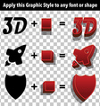 3d Graphic Styles vector image