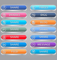 Share me social media buttons vector image