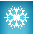White Snowflake Merry Christmas vector image vector image