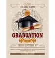 Graduation template vector image vector image