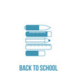 back to school line art accessories icons vector image