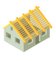building construction icon isometric 3d style vector image