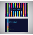 business card template with colorful strips from vector image