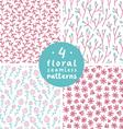 Floral patterns set 2 vector image