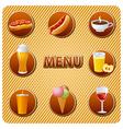 food menu vector image