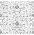 girl birhtday doodle seamless pattern vector image