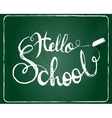 hello school background vector image