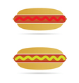 hot dog color vector image