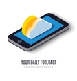 Online daily forecast concept isometric icon vector image