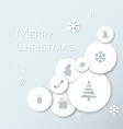 Simple modern minimalistic christmas card vector image