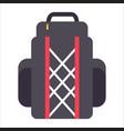 tourist backpack or hike bags knapsacks icon vector image