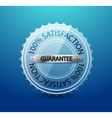 transparent glass guarantee label vector image