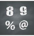 Chalkboard Numbers and Signs vector image vector image