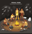 primal tribe people vector image