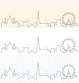 vienna hand drawn skyline vector image vector image