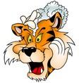 Washing Tiger vector image vector image