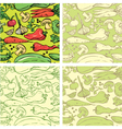 Set of seamless patterns with delicious vegetables vector image vector image